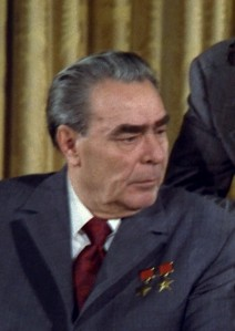 Leonid Brezhnev in color