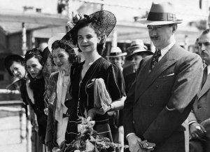 King Zog and Queen Geraldine in Exile