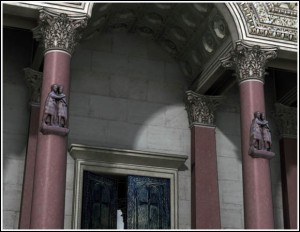 Philadelphion with Portrait of the Tetrarchs attached to adjacent columns