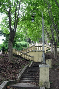 Steps to the sea at Stalin's Dacha in Museri, Abkhazia