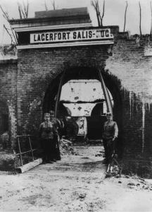 Entrance to one of the Przemysl forts following the siege