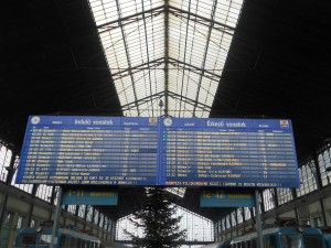 The Arrivals & Departures Board At Nyugati