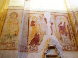 Medieval mosaics can still be seen on the church walls