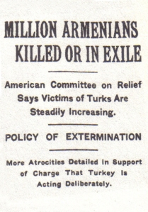 Headline from a New York Times article dated April 15, 1915
