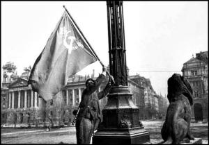 Soviet Flag Displayed in Parliament Square