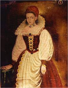 The Usual Suspect - it is this portrait of Elizabeth Bathory that hangs in the Hall of the Ancients in Nadasladany Castle