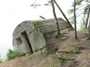 German World War 1 bunker on the shores of Lake Naroch