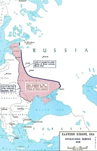 By the Treaty of Brest-Litovsk the Germans gained areas of Eastern Europe that had formerly been part of the Russian Empire - these areas had approximately 55 million people, 90% of Russia coal mines and a quarter of its industry