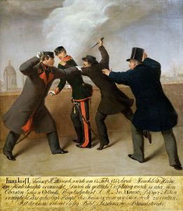 Portrayal of the assassination attempt on Emperor Franz Josef