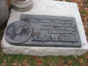 Memorial at Richthofen's former home Świdnica, Poland - formerly Schweidnitz, Imperial Germany (Credit: Bonio)