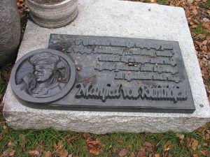 Memorial at Richthofen's former home Świdnica, Poland - formerly Schweidnitz, Imperial Germany (Credit: Bonio)