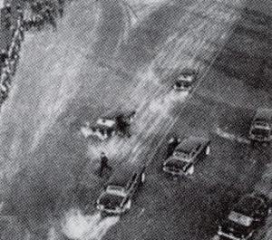 A photo of the Brezhnev assassination attempt made just seconds after it happened