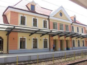 Finally at the point of arrival - Sighisoara Railway Station