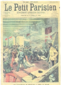 Le Petit Parisien cover image of the assassination of King Alexander I of Serbia