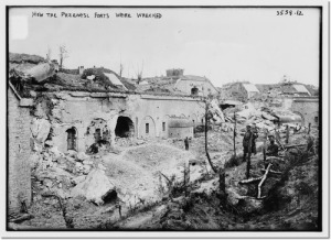One of the Przemysl forts showing damage that occured at the end of the siege