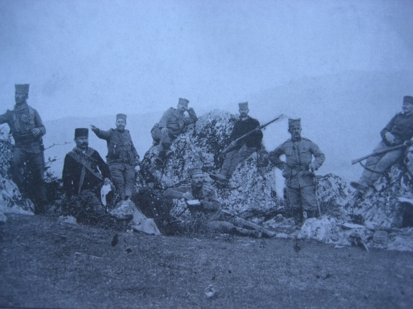 Serbian soldiers on the Macedonian Front