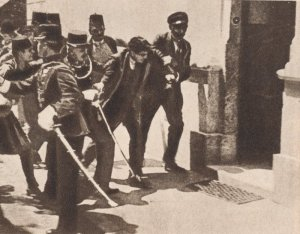 The exception or the rule - Gavrilo Princip being detained by Austro-Hungarian soldiers right after his assassination of Archduke Franz Ferdinand