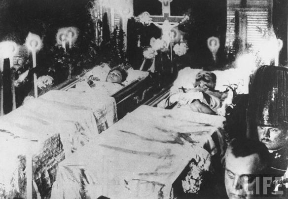 Archduke Franz Ferdinand & his wife Sophie at funeral ceremony