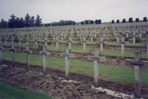 Graves at Verdun - tragic monuments to the war of attrition