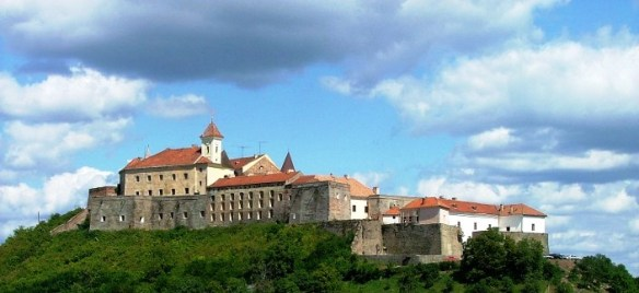 Palanok Castle from a distance 1