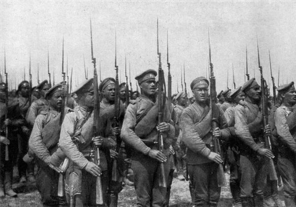 Russian Infantry during the Brusilov Offensive - heading toward victory and tragedy