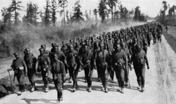 Russian Troops marching toward the front - gone and nearly forgotten