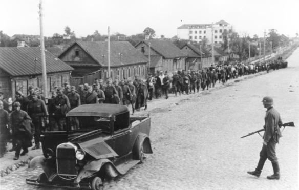 Soviet soldiers surrendered all across Belarus, including Pskov, as the German Army swept through the area
