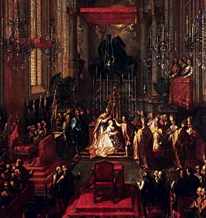 Coronation of Maria Theresa at St. Martin's Cathedral in 1741