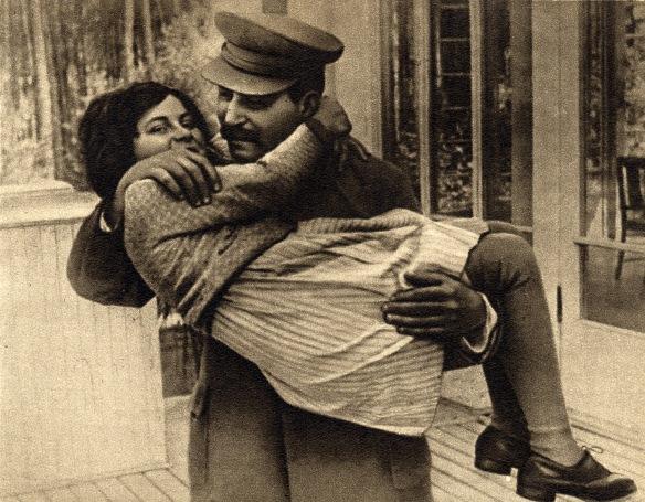 Joseph Stalin with his daughter Svetlana in the 1930s