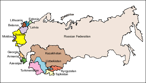 Successor states to the Soviet Union - once republics, now nations