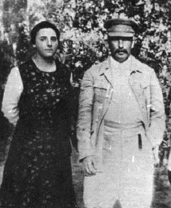 The unhappy couple - Joseph Stalin & Nadezhda Alliluyeva