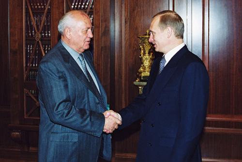 Vladimir Putin & Mikhail Gorbachev - both products of the Soviet Union