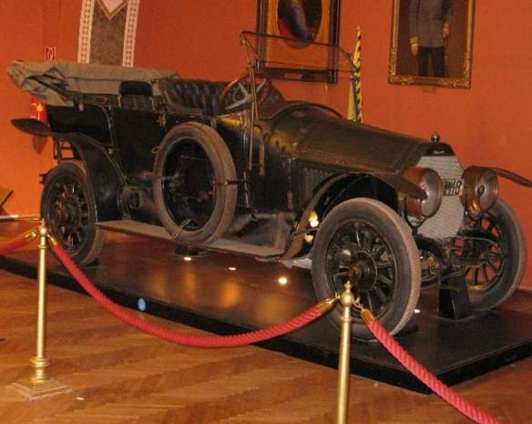 1911 Graf & Stift Double Phaeton automobile which the Archduke and his wife were travelling in when they were murdered in Sarajevo