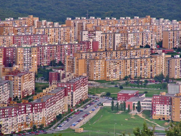 Apartment blocks - the legacy of the Communist Era