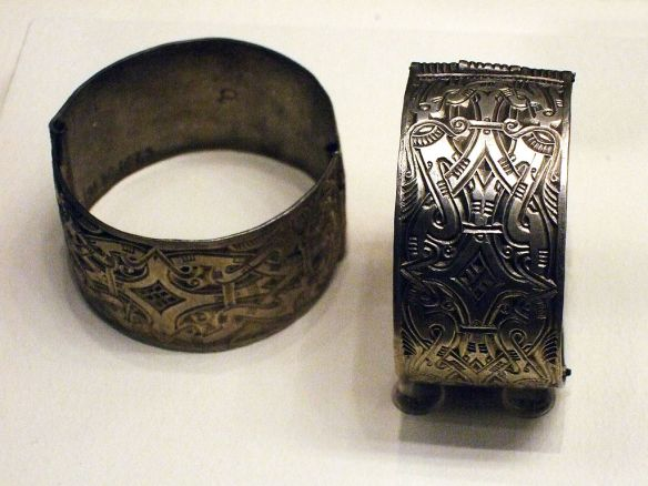 Avar Artifacts - Silver arm rings found in Hungary (Credit: James Steakley)