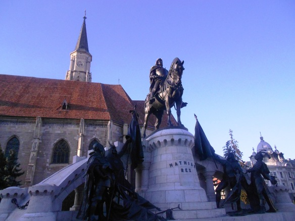 The Matthias Corvinus Statuary Group - in Cluj's Union Square