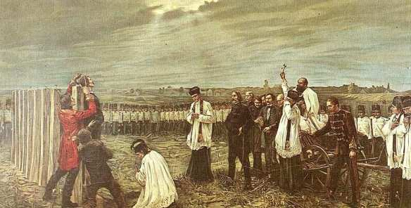 Execution of the Martyrs of Arad - Painting by János Thorma.