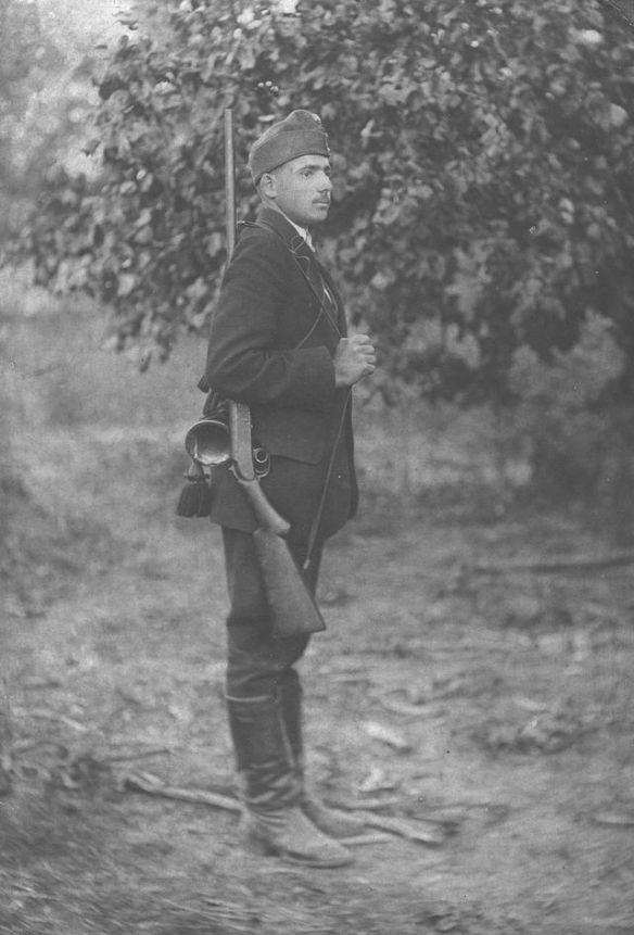 Hungarian soldier on the Italian Front during World War I