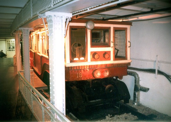 One of the original cars from the Millenium Underground Railway can be seen at the Budapest Metro Museum at Deak ter (Credit: Petr Sporer)