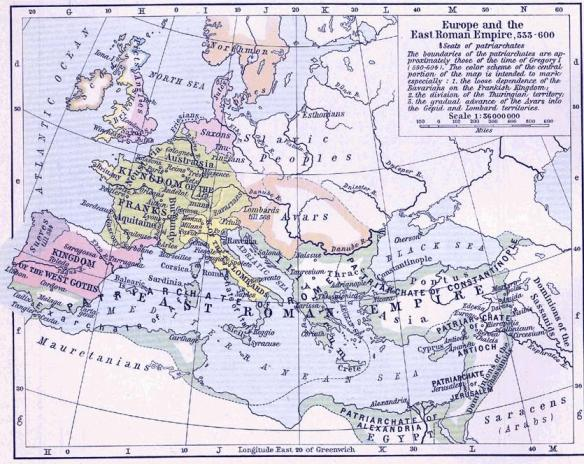 The Avars ruled over much of Central and Eastern Europe by the middle of the 6th century