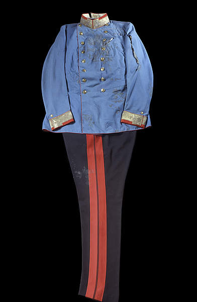 The uniform worn by Archduke Franz Ferdinand when he was assassinated in Sarajevo