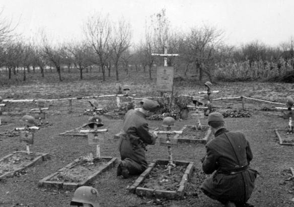 A Hungarian soldiers cemetery in the Ukraine