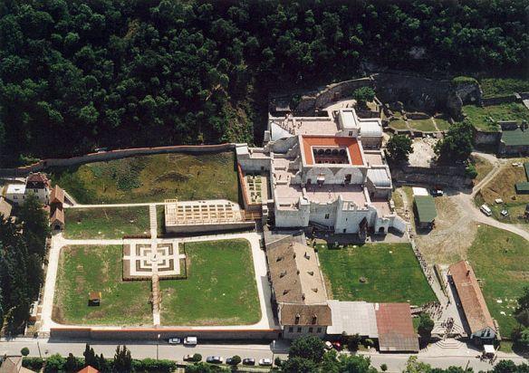 Aerial view of the ruins of the Royal Palace at Visegrad (Credit: Civertan)