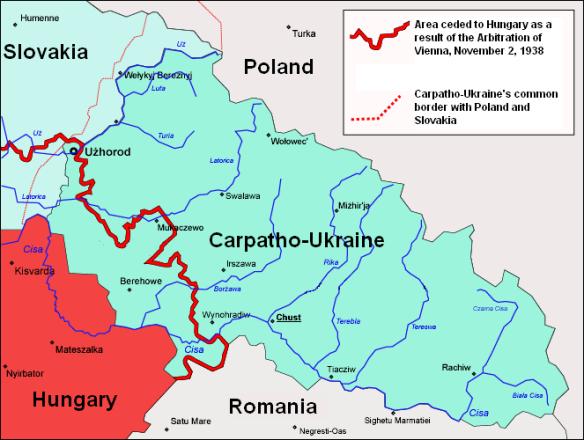 Carpatho-Ukraine in March 1939