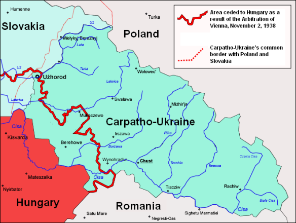 Carpatho-Ukraine in March 1939