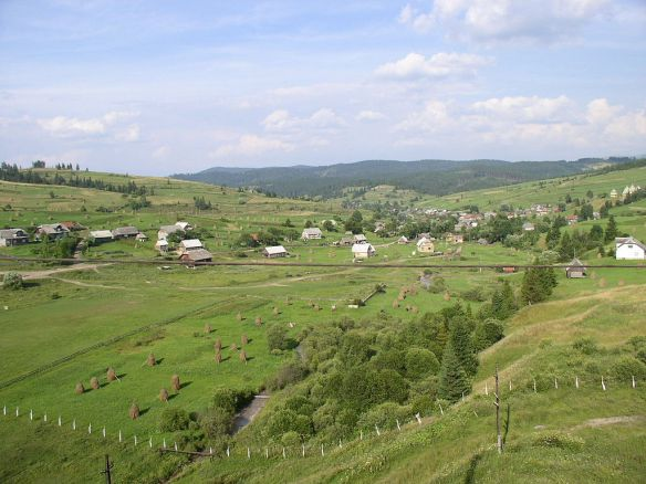 Rural Village in Zakarpattia - whatever the future brings fro Transcarpathia life will continue much as it has for centuries (Credit: Alex Zelenko)