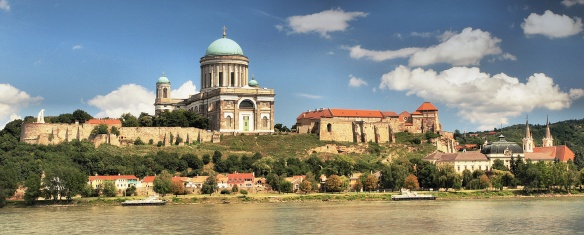 The Esztergom Basilica as seen from the Slovakian side of the Danube