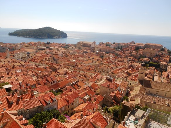 A view of Dubrovnik from the old city walls - truly a must see