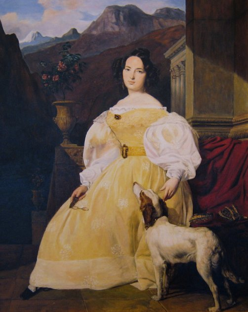 Ewelina Hańska - Honore de Balzac's most astonishing and last romance - (Painting by Ferdinand Georg Waldmüller, 1835)