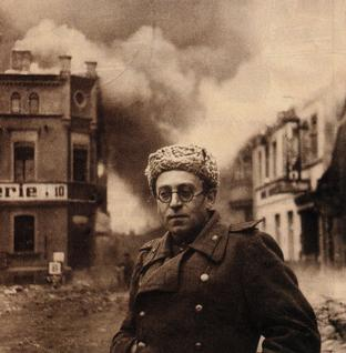 Vasily Grossman during the campaign in Germany, 1945